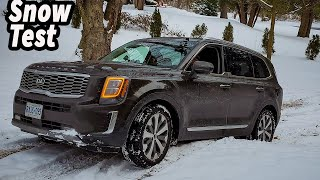 2020 Kia Telluride SX | How Good Is The Kia Telluride In Snow? Snow Drive Mode ON Video
