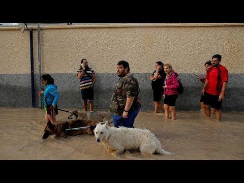 شاهد: إنقاذ رضيع وحدوث أضرار مادية جراء الفيضانات جنوب شرق إسبانيا…  - نشر قبل 58 دقيقة