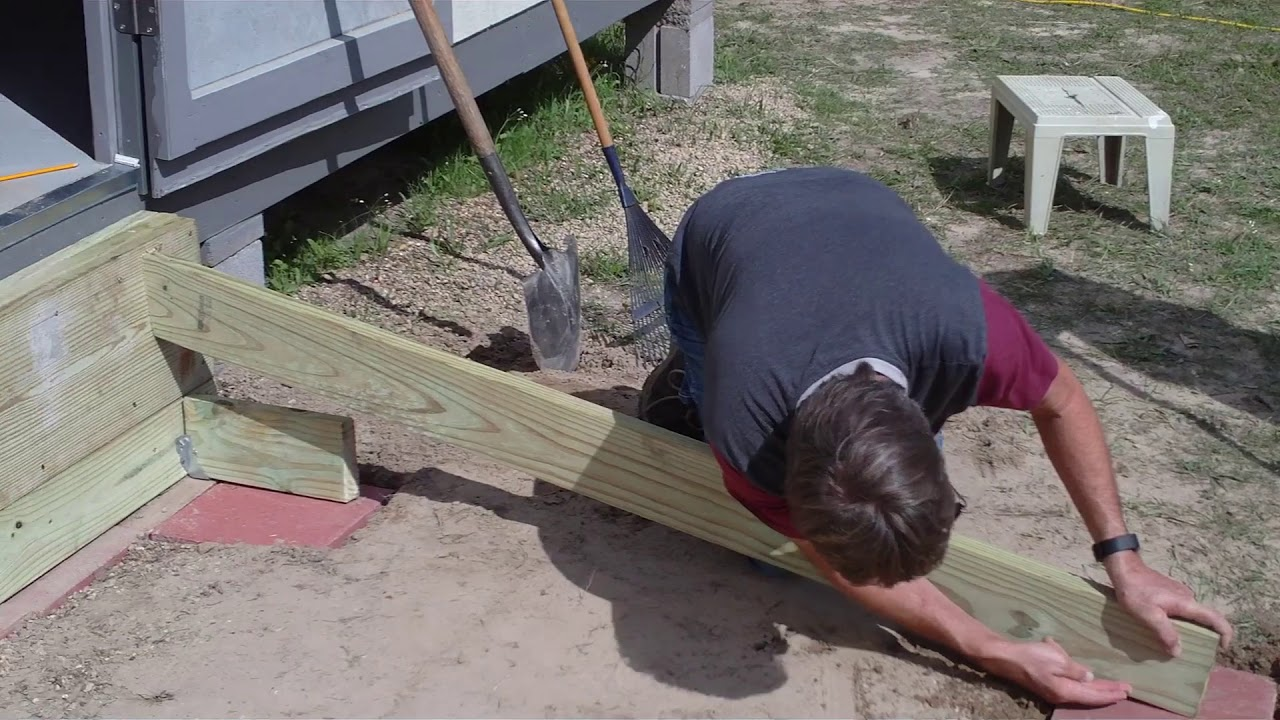 Building A Ramp For A Shed How I Did It