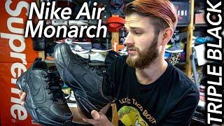 Nike Air Monarch Triple Black for my DAD + Raffle Winner Chosen