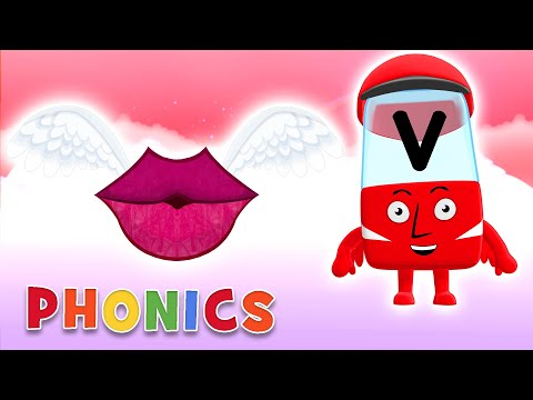 Phonics - Learn To Read | V Is For Valentine's Day | Alphablocks