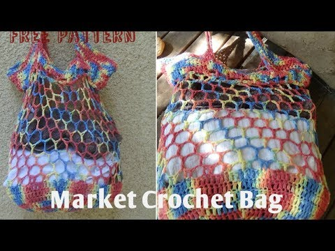 Market Crochet Bag! Easy pattern !
