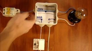 Как подключить выключатель для лампочки