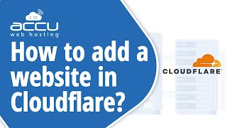 how to add a website in Cloudflare?