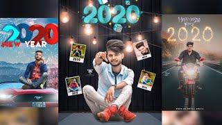 Happy new year 2020 photo editing new year photo editing concept picsart editing tutorial 2020
