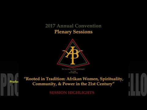 Association of Black Psychologists: 2017 Annual Convention - Plenary Session