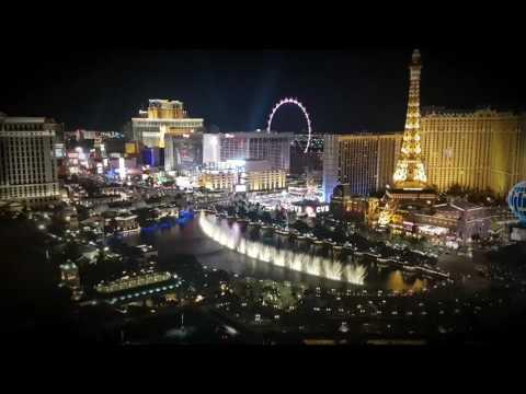 Bellagio Las Vegas water fountains dancing to Punjabi music