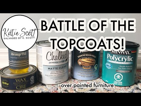 BATTLE OF THE TOPCOATS | Topcoat Testing over chalk paint w/ @Christina Muscari of Pretty Distressed