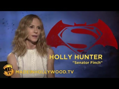 Holly Hunter Uncut Interview Batman v Superman Dawn of Justice