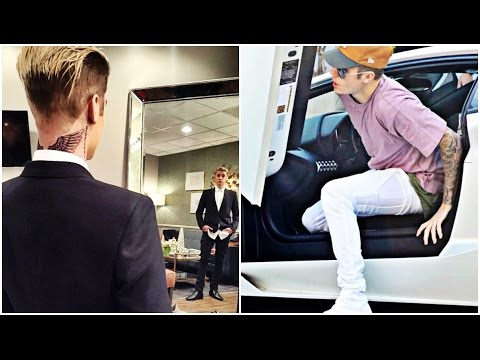 Justin Bieber New Wings Tattoo Photos Videos 126 Youtube