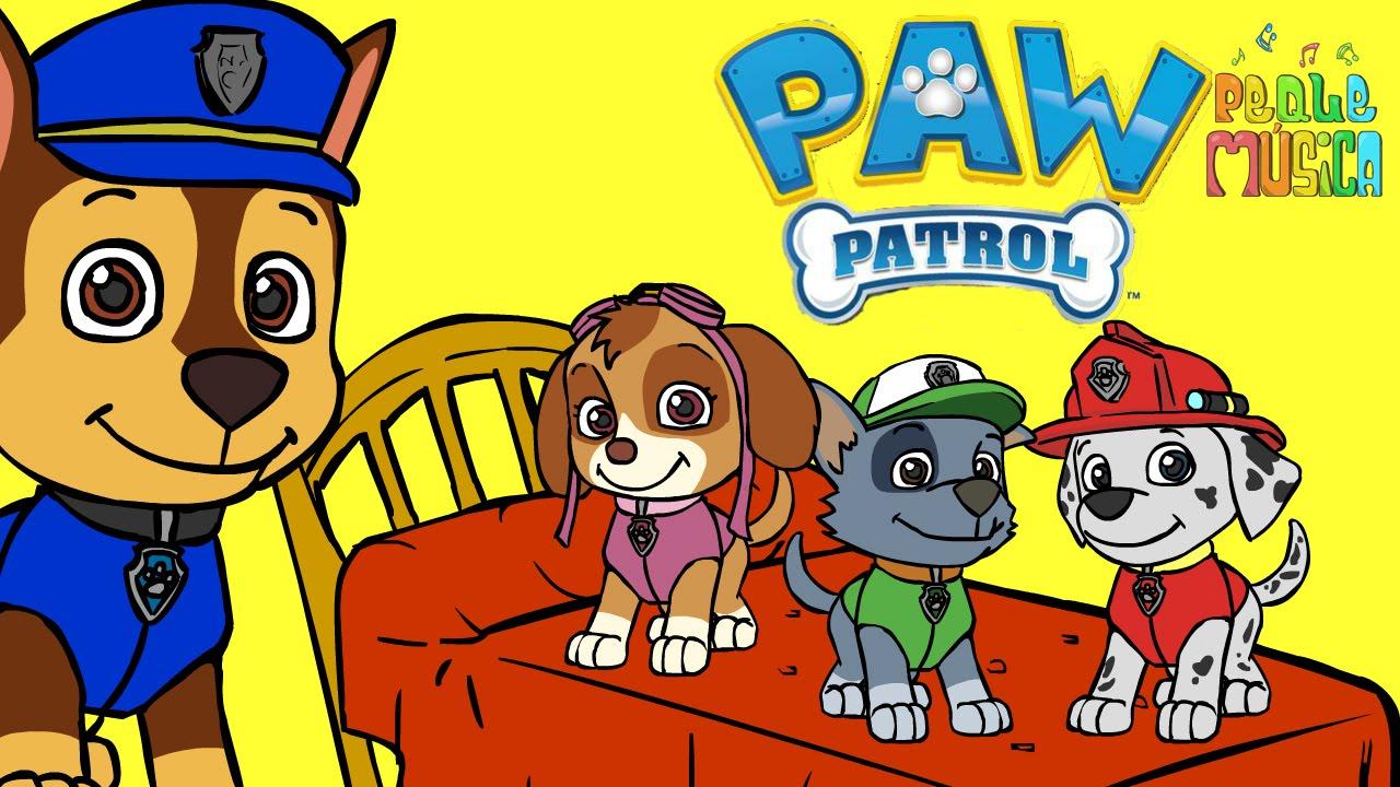 CINCO PERRITOS 🌟 Con La Patrulla Canina