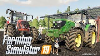 CIĘŻKA PRACA W POLU + SŁONECZNIKI - Hogaty i Sylo - Farming Simulator 2019 Po Polsku #03 [PC/HD]