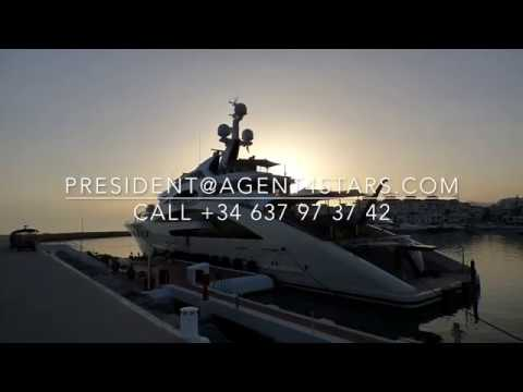ACE 87m Super Yacht and Support vessel GARCON in Puerto Banus