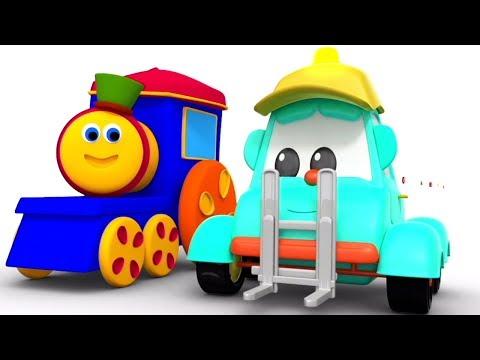 ストリートカーで色を学ぶ   色を学びます   子供のための車   Learning Colors With Street vehicles   Bob The Train Japan   童謡