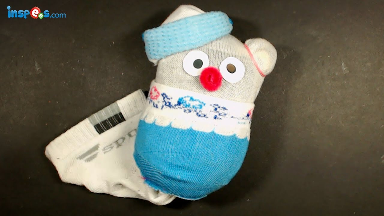 How to make sock toy youtube for Waste materials at home