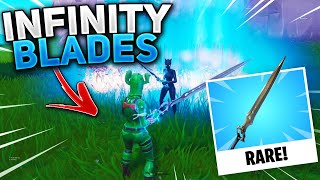 WEIRDEST Scammer Losses Rare Infinity Blade Sword! (Scammer Gets Scammed) In Fortnite Save The World