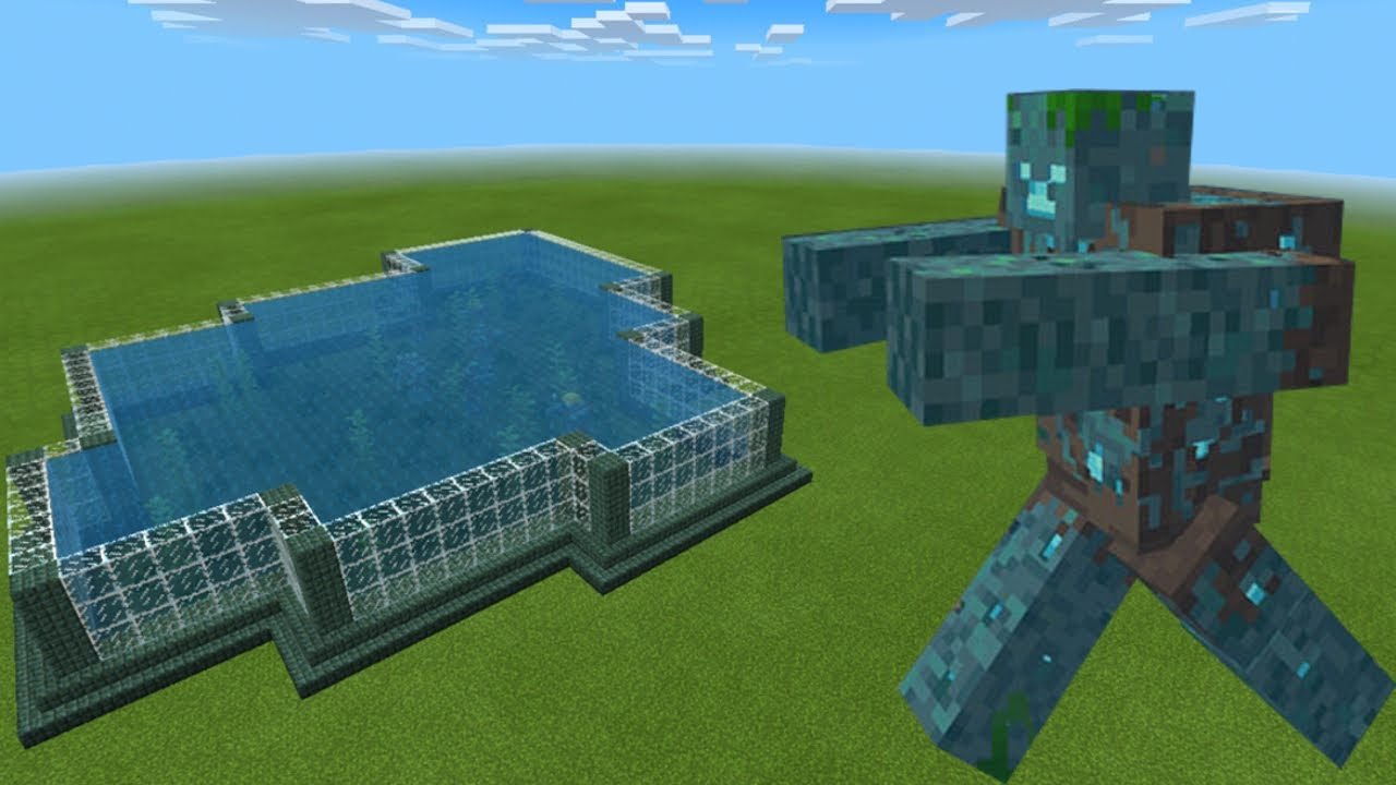 How To Make a MUTANT DROWNED FARM in Minecraft Bedrock ...
