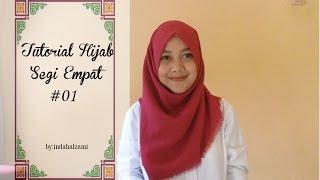Tutorial Hijab Segi Empat Simpel #1 - indahalzami