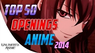Top 50 Openings Animes 2014