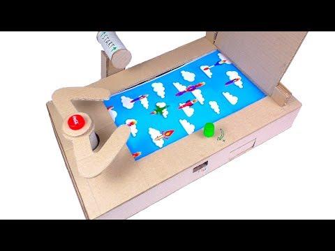 How To Make Jet Fighter Desktop Game from Cardboard!