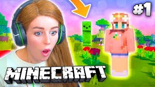 My FIRST time ever playing Minecraft... IT'S SO SCARY?! 😰
