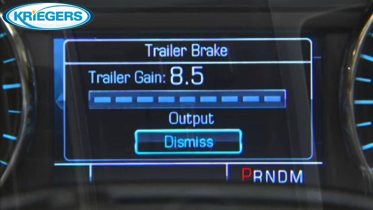 Chevy Silverado Trailer Brake Controller - YouTube
