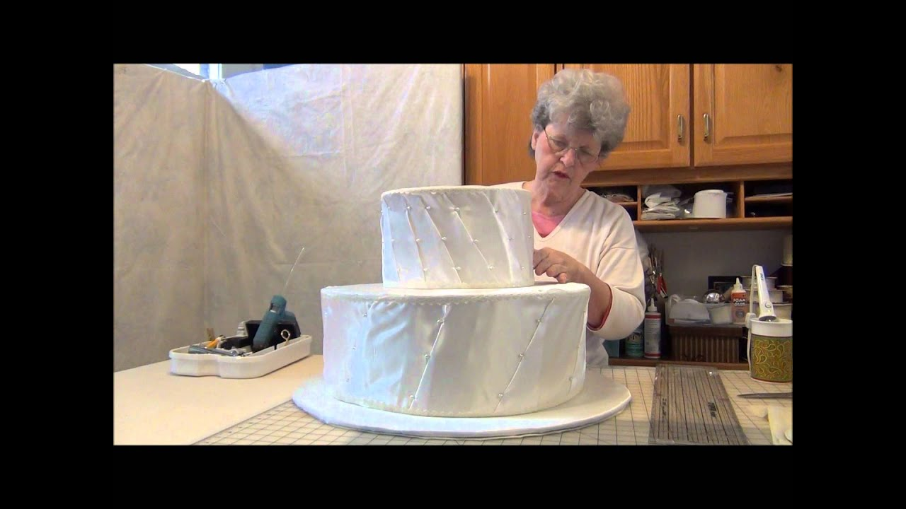 HOW TO MAKE MY BIG FAT FAUX WEDDING CAKE SHOWER CENTERPIECE PART 1