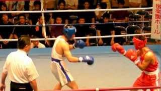 関東大学ボクシング 志渡澤和宏 駒澤大 vs 豊田淳樹 日体大 2012.7.14-3