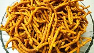દિવાળી પર માકેઁઁટ જેવા તીખા ગાંઠિયા ધરે બનાવવાની રીત  gujarati gathiya recipe