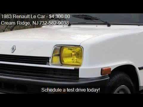 1983 renault le car deluxe 4dr hatchback for sale in cream r youtube. Black Bedroom Furniture Sets. Home Design Ideas