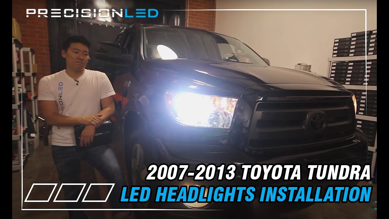 How To Change Headlight Bulb >> Toyota Tundra LED Headlights - Do it Yourself Install 2nd ...