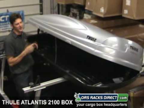 Thule Evolution 1600 >> Thule 688xt 688bxt Atlantis 2100 Cargo Roof Box Review Video Demonstration