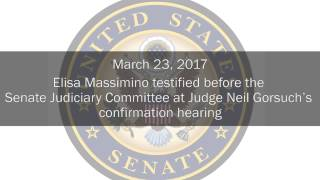 Elisa Massimino at Judge Neil Gorsuch's Confirmation Hearing