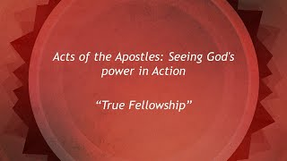 True Fellowship: Seeing God's Power in Action