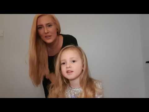 Kids party hair tutorial blooper...
