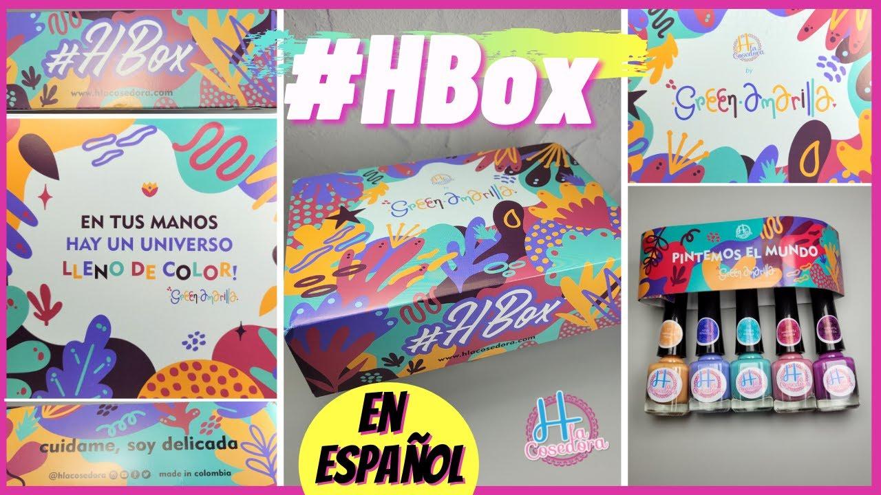 NUEVA H la Cosedora HBox y GreenAmarilla Unboxing En Español Nail Art Stamping Unboxing