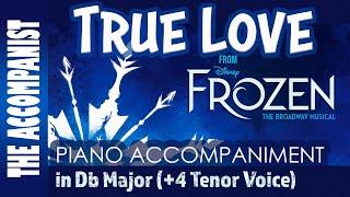 True Love - from Disney's Broadway Musical 'Frozen' - Male Voice Piano Accompaniment - Karaoke