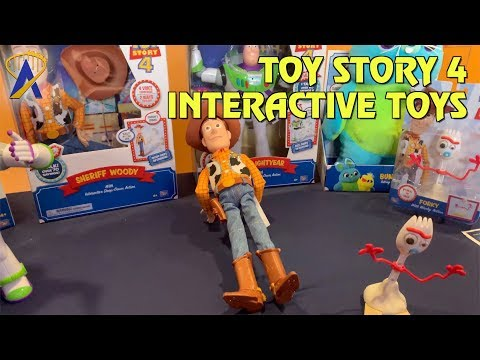 """Toy Story 4 interactive toys fall down when told """"Someone's coming"""""""