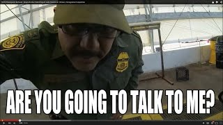DHS Checkpoint Refusal - Angry Border Patrol Agent calls Canine on Citizen, Immigration Inspection