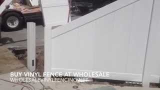 How To Cut Down A Section Of Vinyl Fence From 6' To 3'  Tall