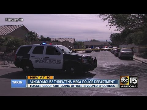"""Anonymous"" threatens Mesa Police Department"