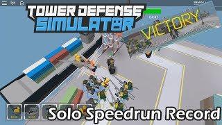 Tower Defense Simulator - Solo Speedrun Harbor - NEW RECORD