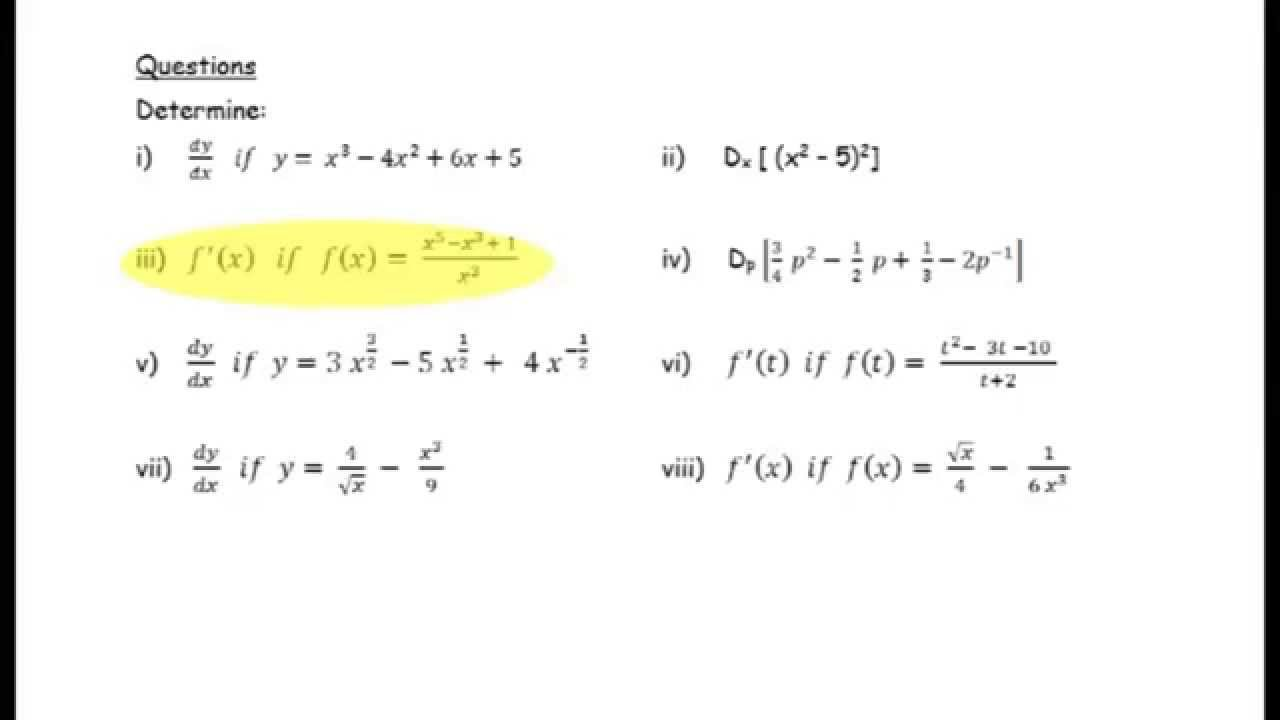 Grade 11 Mathematics Tutorial