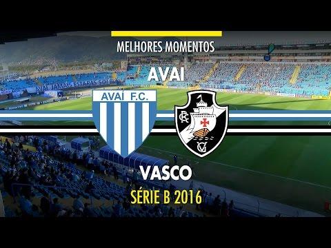 Melhores Momentos - Avaí 2 x 1 Vasco - Série B - 02/07/2016