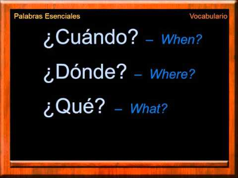 Essential Words In Spanish