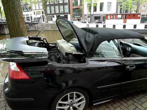 saab 9 3 2007 convertible hirsch roof opening amsterdam youtube. Black Bedroom Furniture Sets. Home Design Ideas