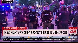CNN camera crew arrested by Minnesota State Police on Live TV