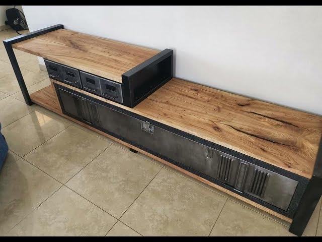 comment fabriquer meuble tv vestiaire