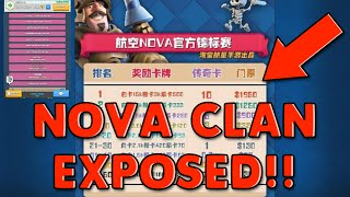 NOVA CLAN EXPOSED!!! - PAID TOURNAMENTS, STEALING PLAYERS, WIN TRADING - Cheating In Clash Royale