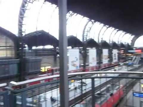 Otis traction glass elevator at Hamburg central station